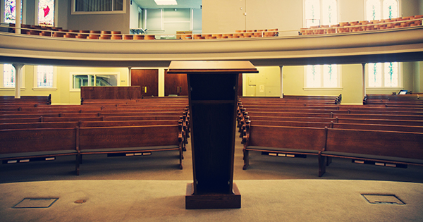 pulpit and pews